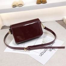 New Glossy Leather Messenger Bags Simple Design Ladies Shoulder Bags Mini Flap bag-female Small Crossbody Bags For Women Clutch