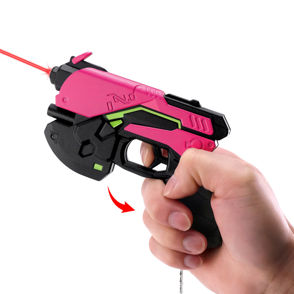 14cm Mini Hot Game Watch and Over D.Va Gun Halloween Cosplay Props Dva Weapon OW Prop Accessories Gun Toys for Children Gift new patterns game genji ow metal weapons zinc alloy exquisite darts rotatable ninjia professional cosplay props kids gift in box