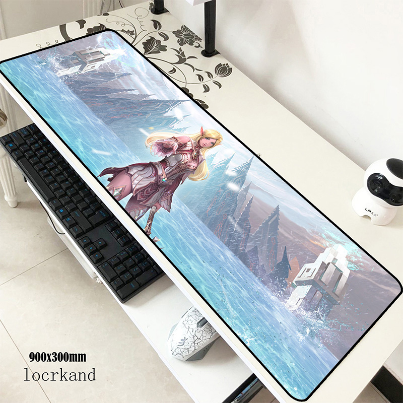 Lineage 2 Mats 900x300x3mm 3d Gaming Mouse Pad Keyboard Mousepad Big Notebook Gamer Accessories Padmouse Mat