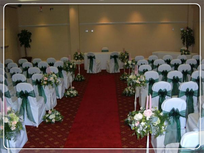 Wedding Chair Covers And Sashes For Hire Wingback Recliner Australia 100pcs Dark Green Sash Weddings Bow Banquet In From Home Garden On Aliexpress Com Alibaba Group