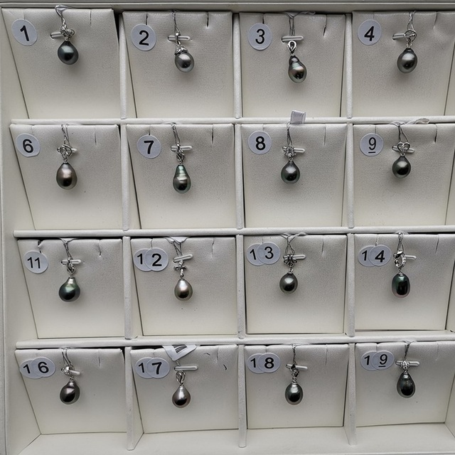 """י""""ש 925 סטרלינג כסף 10 11mm אמיתי טבעי מטהיטי פרל תליון שרשרת תכשיטים"""