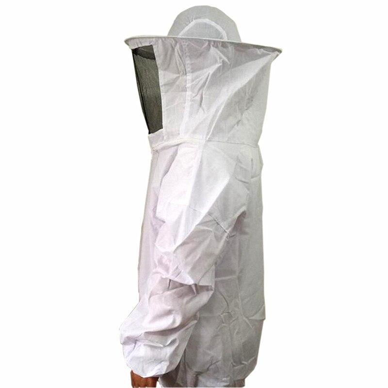 2016 Nouveau Un Blanc Apiculteur Apiculture Spécial De Protection Costumes Et De Protection Vêtements Siamois Manteau Avec Chapeau