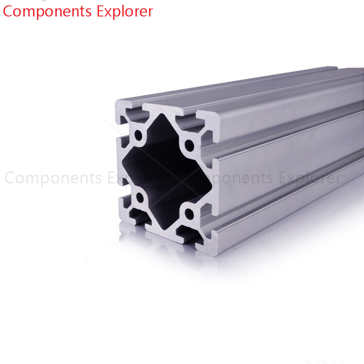 Arbitrary Cutting 1000mm 8080W Aluminum Extrusion Profile,Silvery Color.