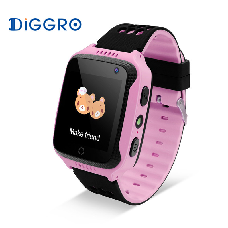 Android IOS Diggro M01 Touch Kids GPS Smart Watch 2G SIM Calls Chat Anti-lost SOS remote Children Safety Monitor Health Helper