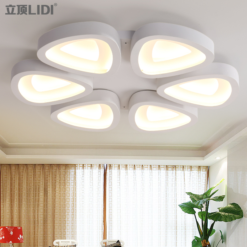Of Simple Modern Living Room Lamps LED Lighting Lamp Decoration Personalized Flower Type Iron Bedroom