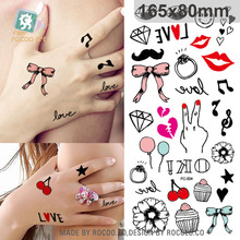 Harajuku Wterproof Temporary Tattoos For Women And Men Funny Expression Cartoon Design Large Tattoo Sticker FC2504