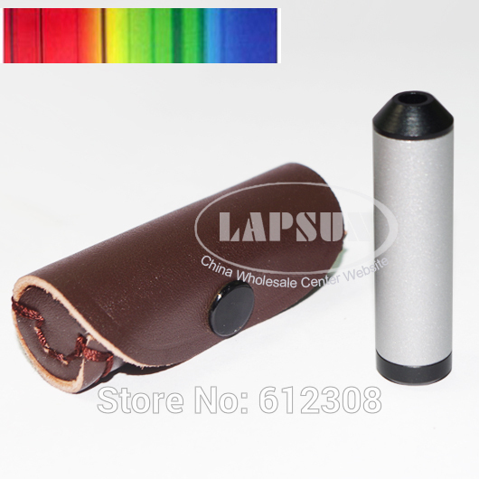 Pocket Diffraction Grating Spectroscope Gem Tool Testing Loupe Gems Gemstones Tester Lens With Leather Carry Pouch