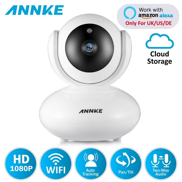 ANNKE 1080P PTZ Home Security IP Camera Draadloze Smart IR WiFi Camera Audio Record Surveillance Babyfoon HD Mini CCTV Camera