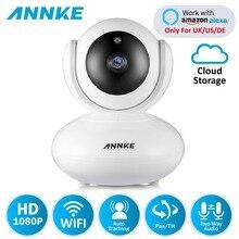ANNKE 1080P PTZ การรักษาความปลอดภัยภายในบ้านกล้อง IP ไร้สายสมาร์ท IR WiFi กล้องบันทึกเสียงการเฝ้าระวังทารกจอภาพ HD Mini กล้องวงจรปิดกล้อง