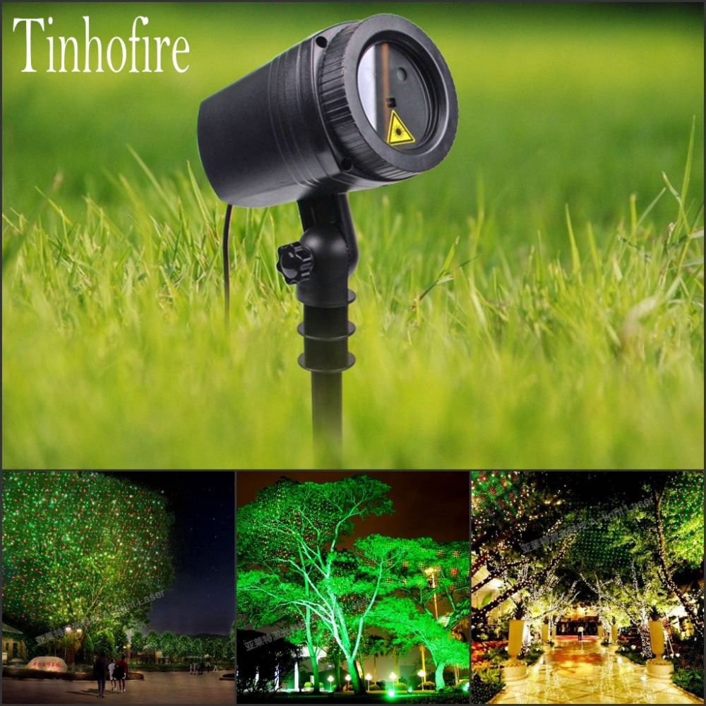 Tinhofire CPD-02 Remote Control Sky stars R&G LED Stage Light Lamp Party Light Waterproof Garden Landscape Christmas Light