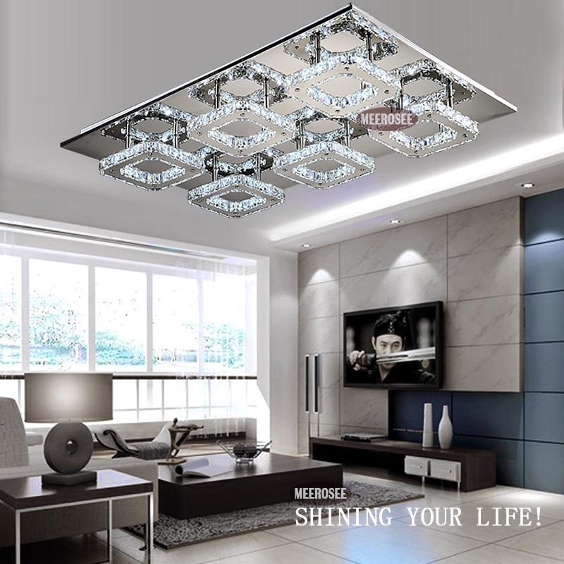buy modern diamond led crystal ceiling light square lustre de cristal light. Black Bedroom Furniture Sets. Home Design Ideas