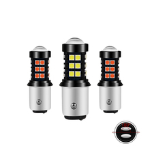 2x Car LED 1157 P21/5W BA15D Bulbs Turn Signal Brake Lights Reverse Lamp 15W 12V 3030 LED Auto Tail Lights White Yellow Red 2x 1157 ba15d bulb 33 smd 5630 led brake turn signal light lamp white auto car led parking lights 6000k white auto lamp led lamp