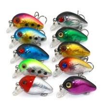 2017 Newest Style Fishing Lures strongly bait fishing attraction small crankbait 3 cm 1.6g artificial bait eye New 10 pcs