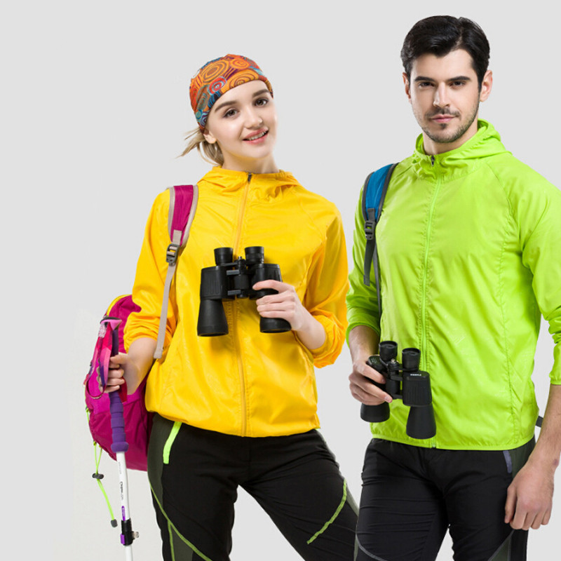 Quick dry Sports Clothing Men Women Hiking Jacket Light weight Windproof Waterproof Nylon Sports Sun protective Top Suit Hiking Jackets     - title=