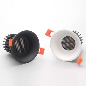 Trąbka tło reflektory CREE COB 7W10W12W sieć komórkowa przeciwodblaskowa led salon sypialnia majsterkowanie tanie i dobre opinie iron 90-260 v Klin Pokrętło przełącznika Foyer 1 sztuk Aluminium 11-15 w Żarówki led Doflamingos 0 °