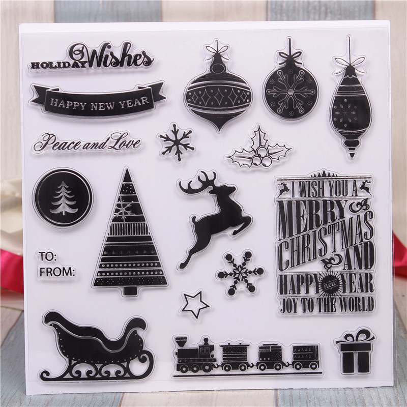 Rubber Silicone Clear Stamps for Scrapbooking Tampons Transparents Seal Background Stamp Card Making Diy Christmas Day Stempel цена и фото