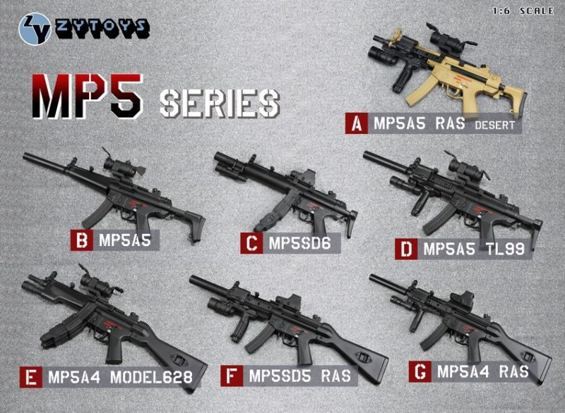 US $29 4  ZY TOYS MP5 1:6 scale Submachine guns model for 12inch doll  accessories-in Dolls Accessories from Toys & Hobbies on Aliexpress com    Alibaba