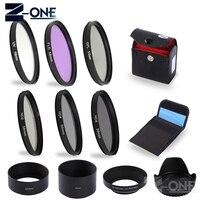 Sonovel UV CPL FLD ND2 4 8 Filter kit+Metal Flower Lens Hood 49mm 52mm 55mm 58mm 18 55 67mm 72mm 77mm for Canon Nikon Sony lens