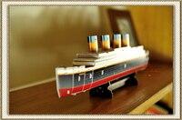 การศึกษาของเล่น1ชิ้นCubic F Unมินิไททานิคล่องเรือเรือ3DกระดาษDIYจิ๊กซอว์ปริศนาประกอบรุ่นอาคารชุด...