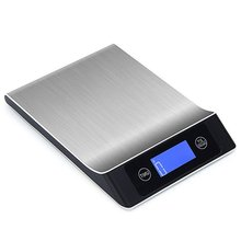LCD Digital Stainless Steel Ultra-thin Electronic Kitchen Scale Multifunction Food Weighing