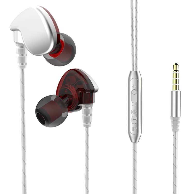 Original 3.5MM Jack Headphone In-ear Wired Earphones HiFi Strong Bass With Microphone For Phone iPhone Sumsung Headset mobaks hxt 2045 novel zipper style universal 3 5mm jack wired in ear headset w microphone blue
