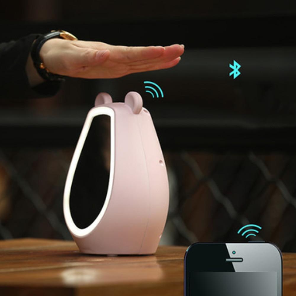 Écran tactile maquillage miroir horloge électronique LED numérique réveil Multi fonction Bluetooth musique jouer alarme bureau horloge