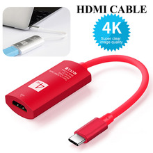 Red USB C 3 1 Type C to HDMI Support 4k Converter Adapter Cable for Galaxy