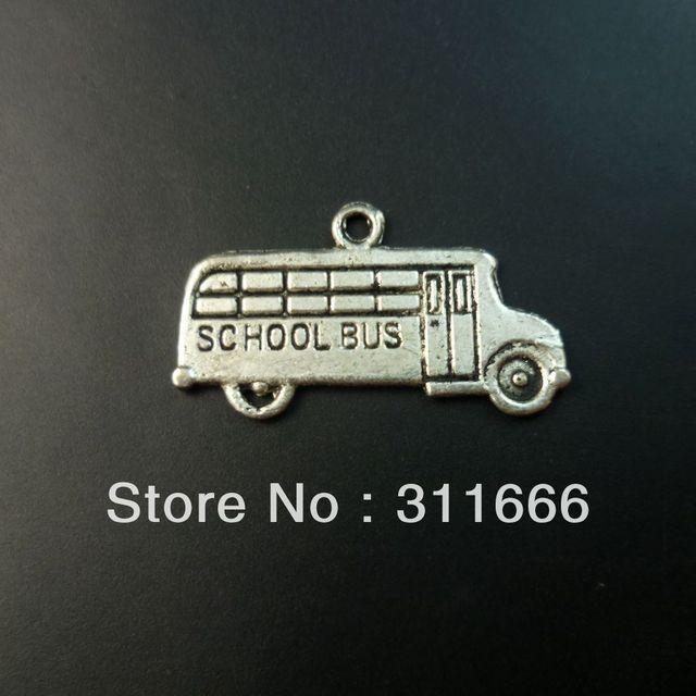 200 pcs/lot Bus tibet silver floating charms pendants Free shipping