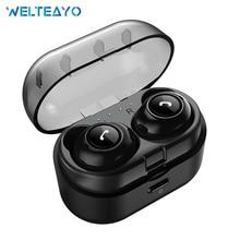 цена на WELTEAYO CP7 TWS Wireless Earphones Bluetooth In-Ear Headset Wireless Bluetooth Earphone Mini Stereo Earbuds With Mic For Phones