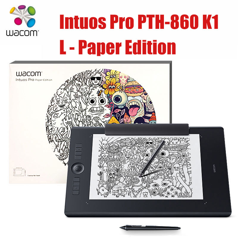 US $557 88 7% OFF|Wacom Intuos Pro Digital Graphic Drawing Tablet for Mac  or PC, Large, (PTH 860) NEW MODEL 8192 Pressure Levels-in Digital Tablets
