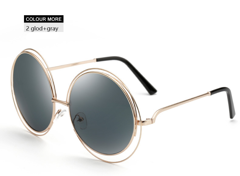 da66061cc3a972 HapiGoo Fashion Vintage Oversized Round Sunglasses Women Mirror Brand  Design Steampunk Sun Glasses For Female Big Frame Eyewear-in Sunglasses  from Apparel ...
