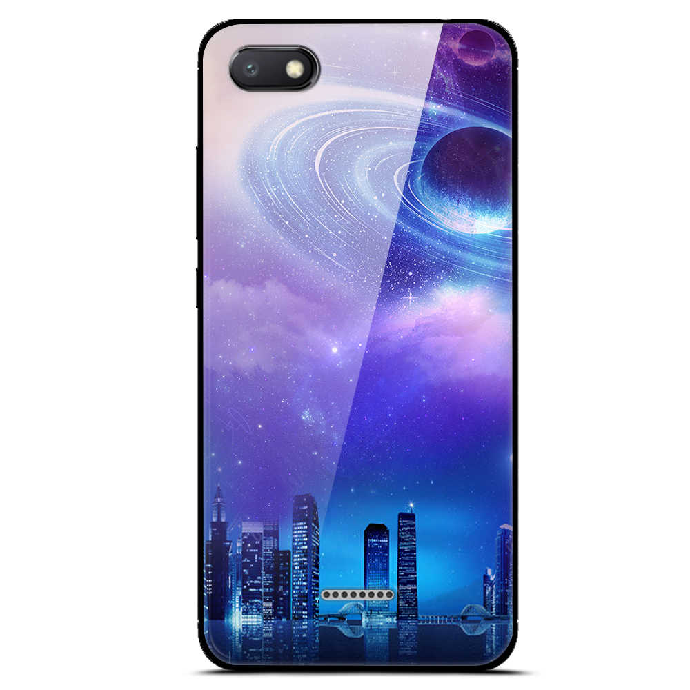promo code be3f7 05658 A Redmi 6A Cover For Xiaomi Redmi 6A Case 5.45'' Glass Hard Back Cover For  Xiaomi Redmi 6A 6 A Case Redmi A6 Soft Bumper Print