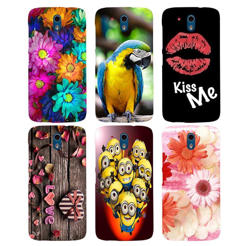 Coque For HTC Desire 326G / Desire 526 526G dual sim 526G+Case Floral Plants Unicorn Printed Back Cover Flamingo Hard Phone Case