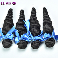 Malaysian Loose Wave Bundles Human Hair 4 Bundle Deals Non Remy Hair Extension Natural Lumiere Hair Loose Deep Wave Weave Bundle