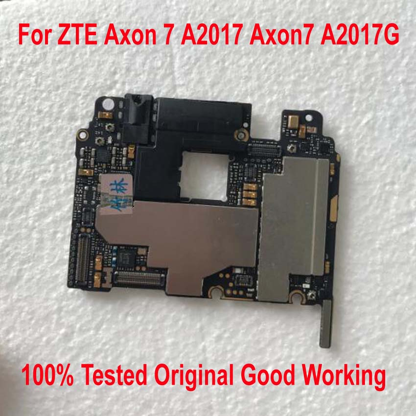 100 Tested Original Work Unlock Mainboard For ZTE Axon 7 A2017 Axon7 A2017G Motherboard Circuits Fee