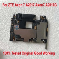 100% Tested Original Work Unlock Mainboard For ZTE Axon 7 A2017 Axon7 A2017G Motherboard Circuits Fee Flex Cable Accessory Set