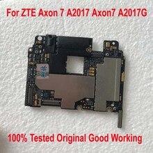 100% テストオリジナル作品解除 ZTE ため Axon 7 A2017 Axon7 A2017G マザーボード回路手数料フレックスケーブルアクセサリーセット