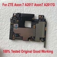 100% testé travail Original déverrouiller la carte mère pour ZTE Axon 7 A2017 Axon7 A2017G carte mère frais câble ensemble daccessoires
