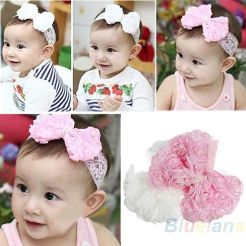 Toddler Baby Girl Headband Hair Band Bow Accessories Headwear Hairband Headdress