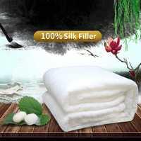 Couettes en soie chinoises de haute qualité pour la maison couettes en soie de mûrier 100% couettes en soie remplies de soie couverture en coton confortable