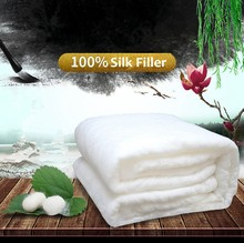 High Grade Home Chinese Silk Quilts Handwork Mulberry Silk Comforters 100%Silk Filled Silk Blankets Comfortable Cotton Cover(China)