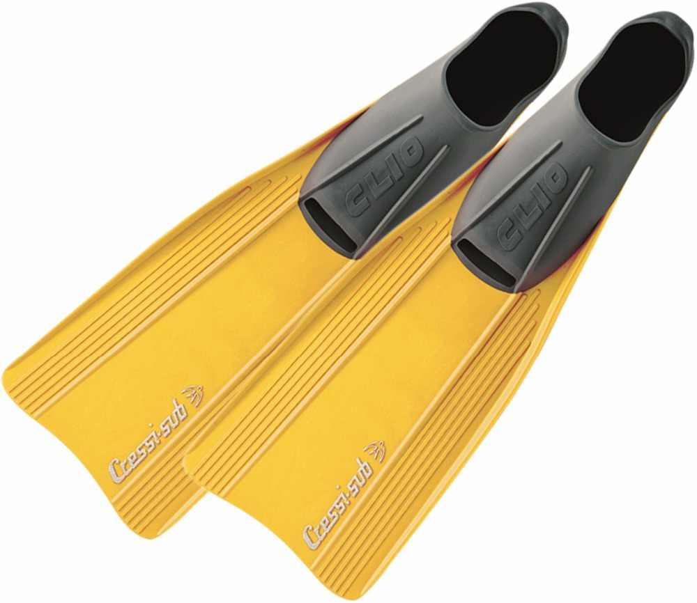 を Cressi クリオダイビングフィンシュノーケリング水泳フリッパーロング刃フィンのためのソフトラバー大人キッズ子供ボーイズガール