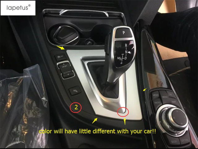 Us 39 3 Accessories For Bmw 3 Series F30 316i 320i 328i 2013 2017 Transmission Shift Gear Panel Shift Frame Molding Cover Kit Trim In Interior
