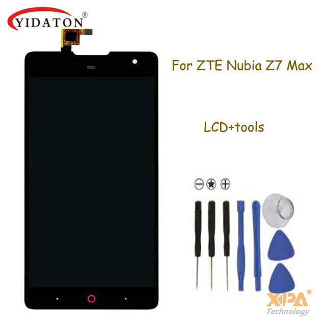 LCD Screen Display With Touch Screen Assembly Replacement For ZTE Nubia Z7 MAX NX505J Mobile Cell Phone+free ship