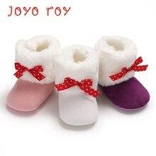 897fb021b50c87 Joyo Roy 1 paia/lotto del bambino delle ragazze rosa bianco scarpe presepe  con red knot anello e gancio calzature stivali da nev.