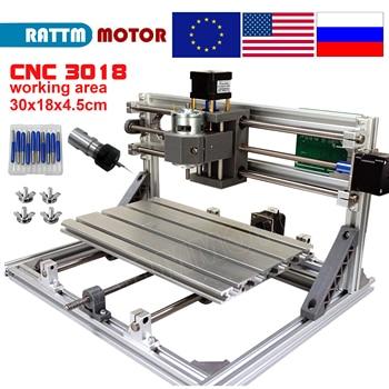 цена на EU Ship!! CNC 3018 GRBL control Diy CNC machine 30x18x4.5cm,3 Axis Pcb Pvc Milling machine Wood Router laser engraving v2.5