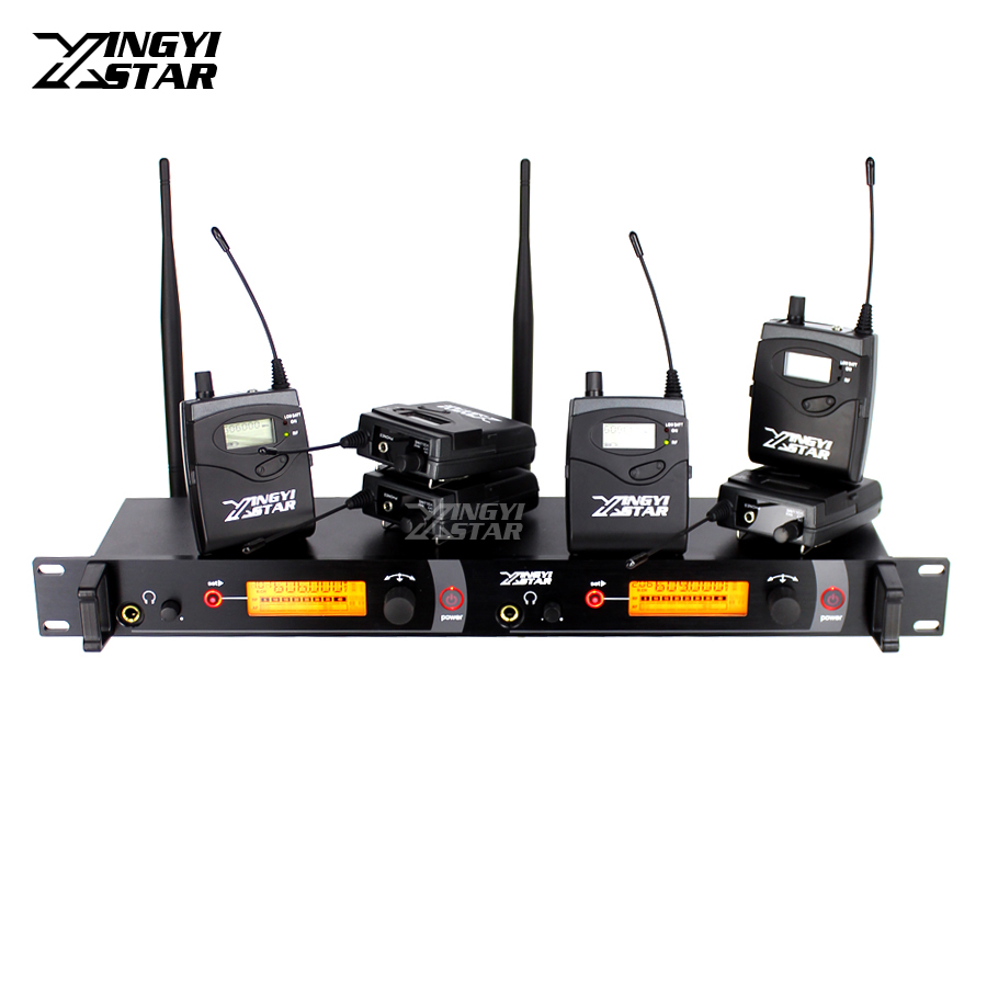 Wireless In Ear Monitor Professional Stage Monitoring System Six Bodypack Receiver One Cordless Transmitter Monitors in EarphoneWireless In Ear Monitor Professional Stage Monitoring System Six Bodypack Receiver One Cordless Transmitter Monitors in Earphone
