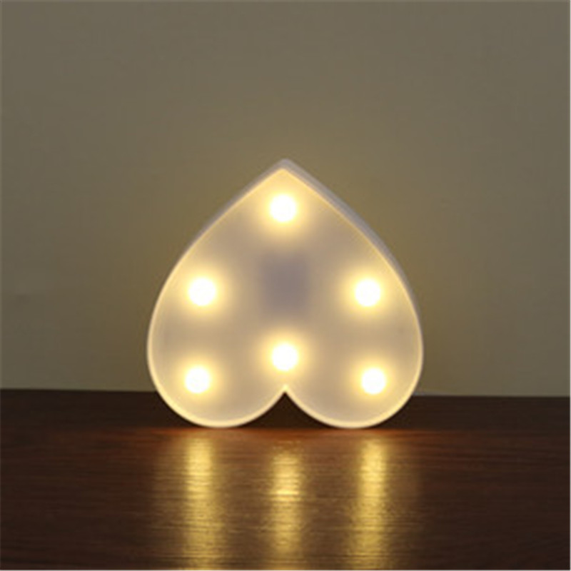 Luzes da Noite lumiparty marqueeled plástico carta coração Tipo de Ítem : Night Lights
