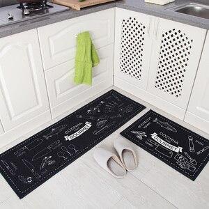 Image 3 - 2 Pçs/set Tapetes de Banho Tapete de Cozinha, 15 Cores Anti Deslizamento Grande Tapete Do Banheiro, Estilo Moderno Banheiro Tapete Para Banheiro de Alfombras