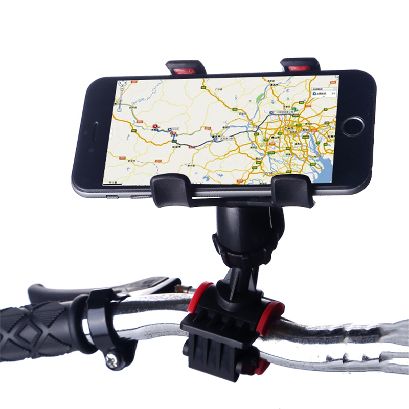 Universal Bicycle Bike Handlebar Phones Mount Holder For GPS 360 Rotation Motocycle Cell Phone Clip Stand For IPhone/ Samsung